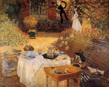 Claude Monet Painting - The Luncheon 1873 Claude Monet
